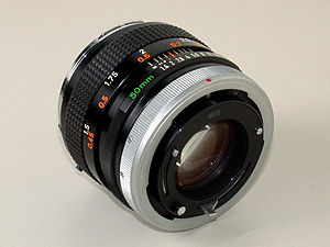 English: Canon lens FD 50mmF1.4(rear angle vie...