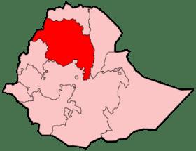 Mapa de Región de Amhara