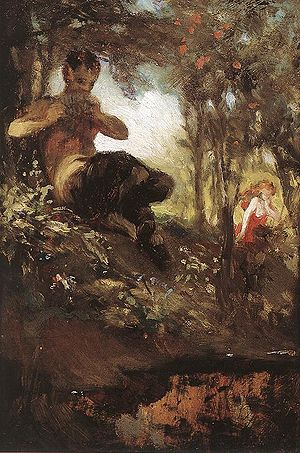 A faun, as painted by Hungarian painter Pál Sz...