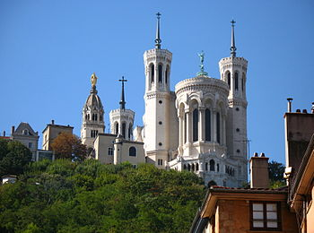 Fourvière as seen from Vieux Lyon