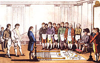 Freemasonry initiation.