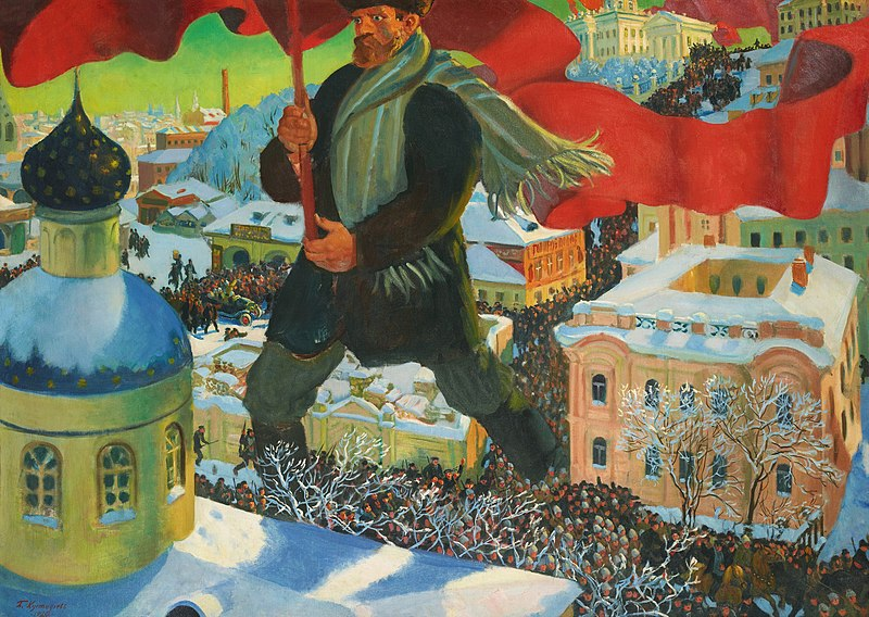 Bolshevik (1920), by Boris Kustodiev.