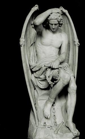 Česky: Mramorová socha Lucifera (od Guillaume ...