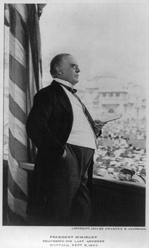 """William McKinley delivering his last add..."