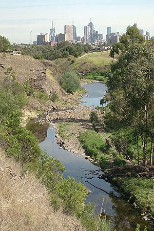 English: The Merri Creek passing through Fairf...