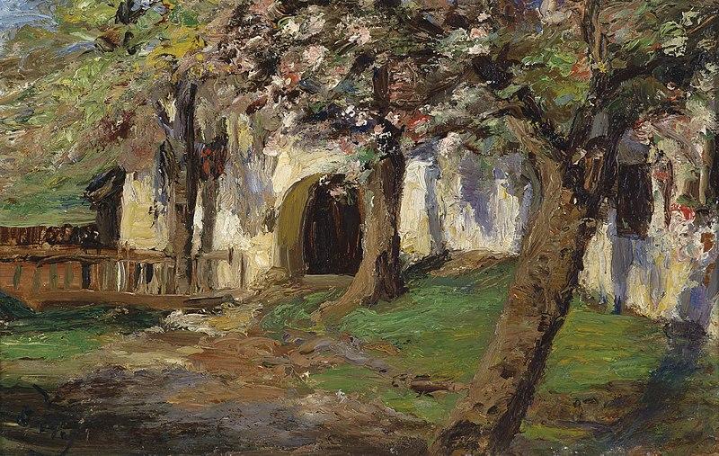 File:Olga Wisinger-Florian Blühende Apfelbäume.jpg