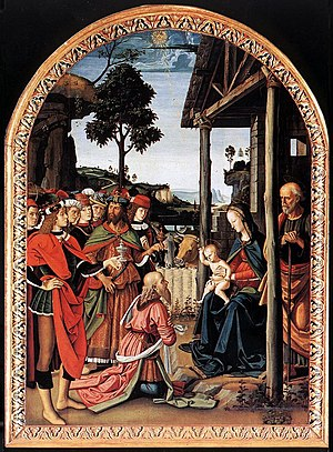Pietro Perugino - The Adoration of the Magi (E...