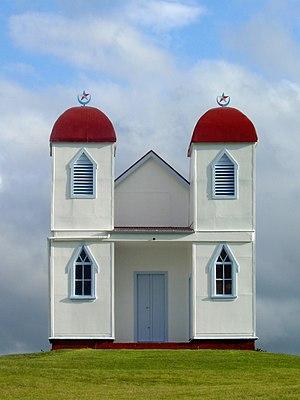 Ratana church near Raetihi, New Zealand.
