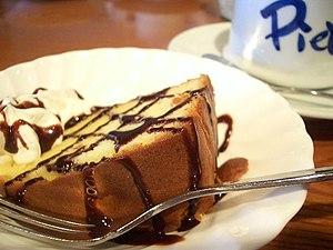 Slice of pound cake