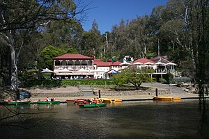 Studley Park Boathouse in Yarra Bend Park, Mel...