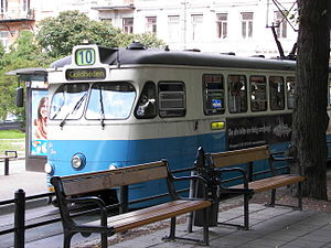 Tram at Vasaplatsen in Göteborg, Sweden