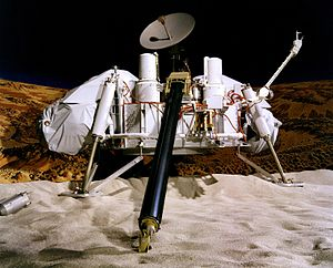 This artist's concept depicts a Viking lander ...