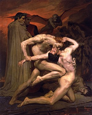 Dante And Virgil In Hell by William-Adolphe Bo...