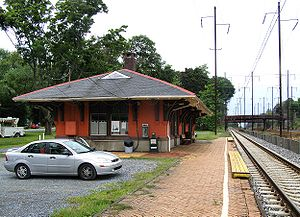 English: AmtrakParkesburg Station on the eastb...