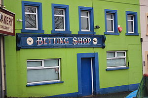 English: Betting Shop, Upper Square, Castlewel...