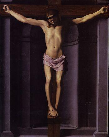 Français : Christ en Croix d'Agnolo Allori, di...