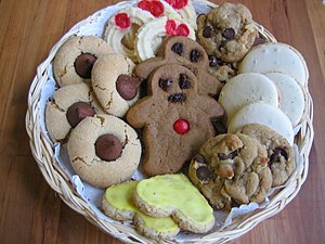English: Plateful of Christmas Cookies