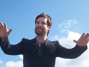 David Cook at a celebration of his homecoming ...