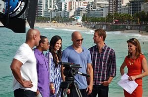 English: Fast Five cast (Paul Walker, Vin Dies...