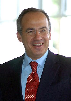 English: Felipe Calderón, president of Mexico....