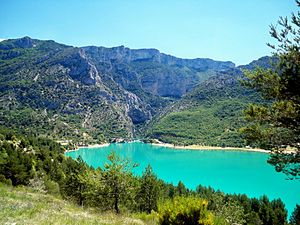 English: View of the entrance to the Verdon Go...