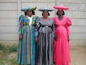 A group of Herero women, Windhoek, Namibia.