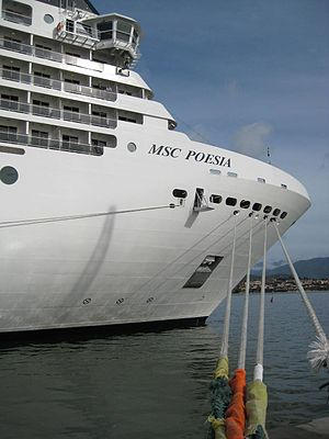 Cruise ship MSC Poesia