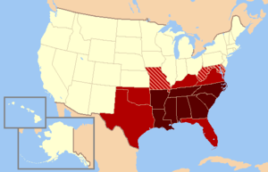 A map of the modern definition of the Southern...
