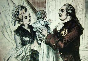 Queen Marie Antoinette of France and her husba...