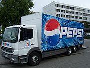 Camión de distribución de Pepsi