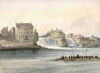 Rideau Falls at Bytown, Canada West