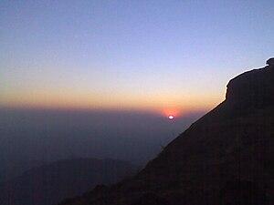 English: The sunset at Kodachadri is awesome. ...