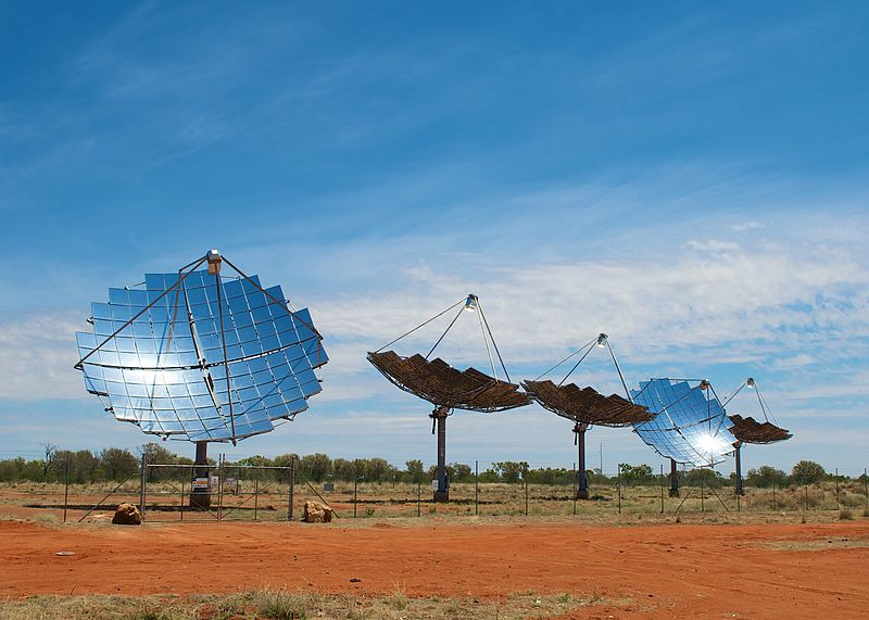 An image of a solar farm in the Australian outback