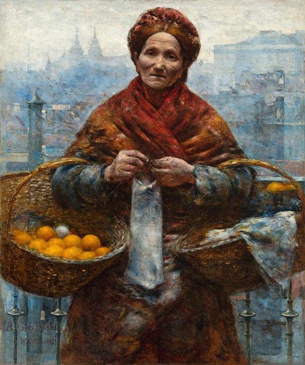 """""""Jewess with Oranges"""" byAleksander Gierymski"""