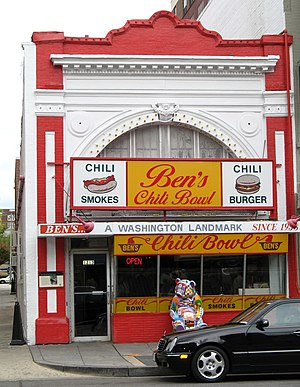Ben's Chili Bowl restaurant on U Street NW in ...