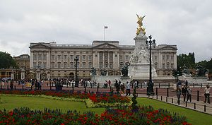 Buckingham Palace, London, England from the en...
