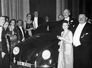 German Press Ball 1939. Dr. Ferdinand Porsche ...