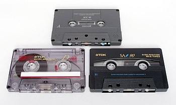 Cassettes of varying tape quality and playing time