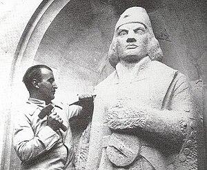 Coert Steynberg working on the Diaz-statue at ...