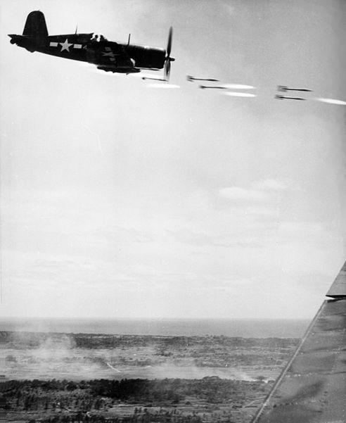 File:Corsair fighter firing on Okinawa.jpg