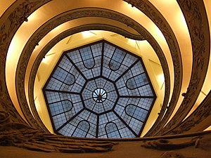 English: Scala a Chiocciola Vatican Museums Va...