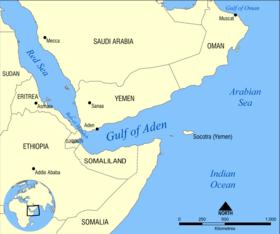 puesta estelar en el Golfo de Adén