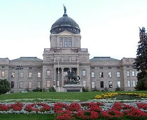 The state Capitol building, Helena, Montana