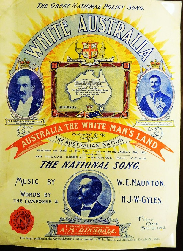 Immigration Museum, Melbourne - Joy of Museums - 'White Australia' Song Sheet Music, 1910