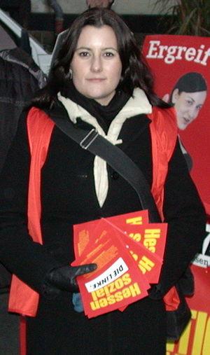 Janine Wissler, Politikerin der Linkspartei in...