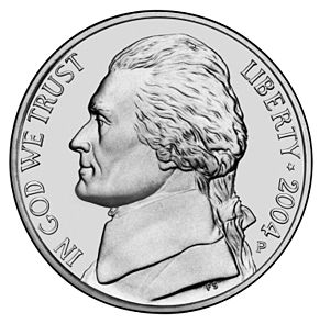 Jefferson Nickel obverse