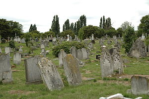 Kensal Green cemetery in London
