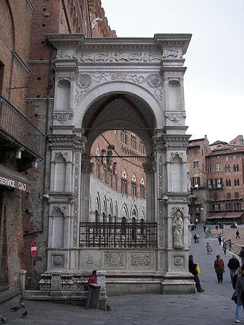Loggia of the Palazzo Pubblico in Piazza del C...