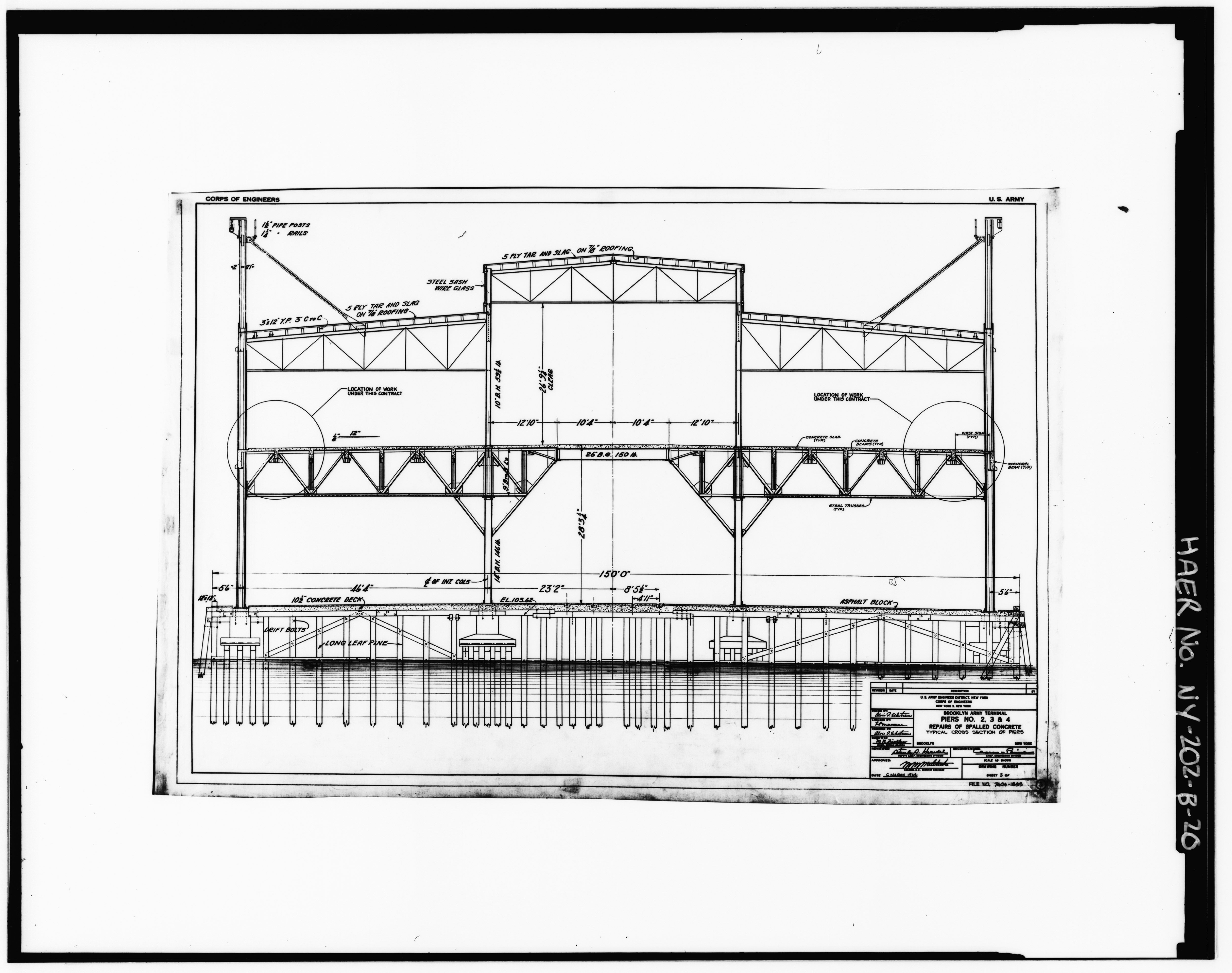 File Photocopy Of Original Drawing By Us Army Engineer