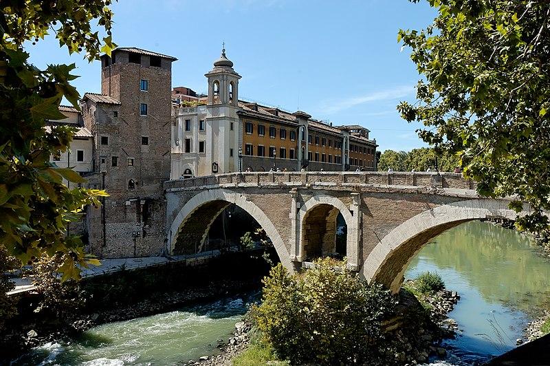 File:Ponte Fabricio Rome Pierleoni.jpg